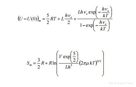 spettroscopia Determinazione grandezze termodinamiche